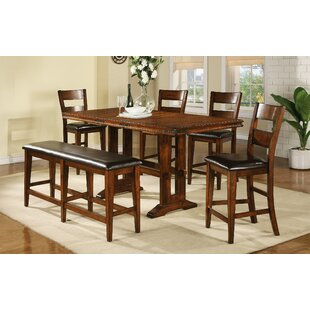 Nashoba 6 Piece Drop Leaf Dining Set Loon Peak