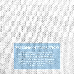 Plain Waterproof Protector Deep Pocket Fitted Hypoallergenic Mattress Cover