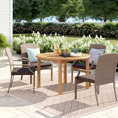Brighton Wood Dining Table by Sol 72 Outdoor Read Reviews