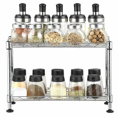 Rebrilliant2 Tier 20 Jar Spice Rack Rebrilliant Color Sliver Dailymail
