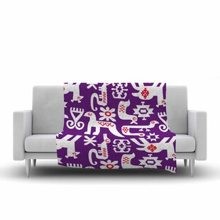 Price Check Agnes Schugardt the Tribe Tribe Fleece Blanket ByEast Urban Home