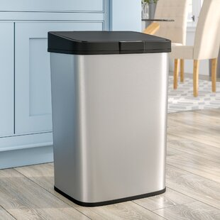 Steel 15.9 Gallon Motion Sensor Trash Can