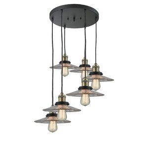 Chon 6-Light Cluster Pendant b..