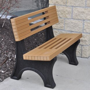 Ariel Modern Recycled Plastic Park Bench