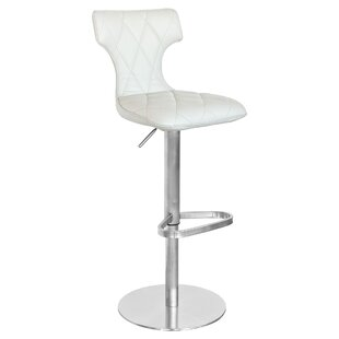 Review Caius Height Adjustable Swivel Bar Stool