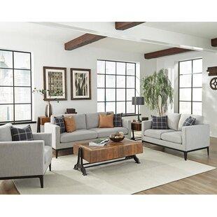 Gracie Oaks Tyndall 3 Piece Living Room Set