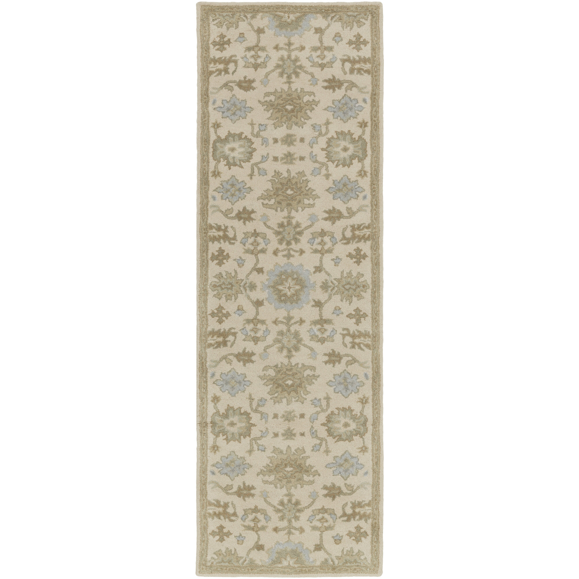 Willard Hand Woven Wool Beige Green Area Rug Reviews Joss Main