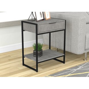 Street Metal End Table with Storage