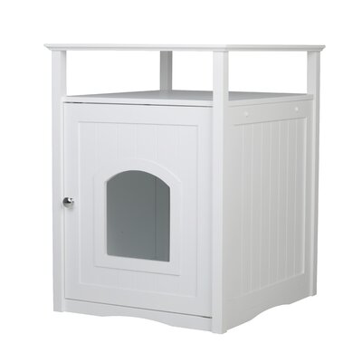 Adrianne Litter Box End Table Color: White