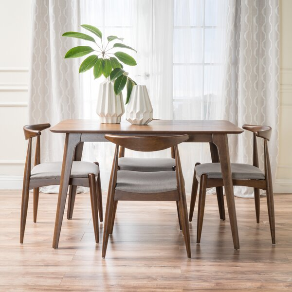 Langley Street Millie 5 Piece Mid Century Dining Set Reviews