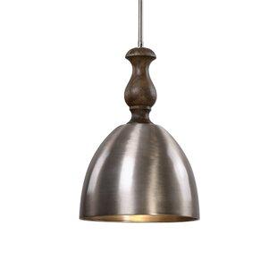 Gracie Oaks Whitby 1 -Light LED Dome Pendant