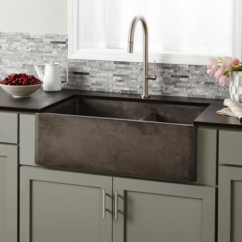 Tremendous Farmhouse 33 L X 21 W Double Basin Farmhouse Apron Kitchen Sink Beutiful Home Inspiration Xortanetmahrainfo