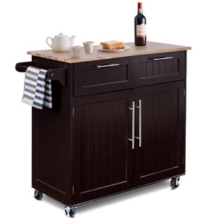 AbdUlmoeen Heavy Duty Kitchen Island with Solid Wood by Red Barrel Studio
