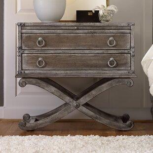 Hooker Furniture True Vintage 2 Drawer Nightstand