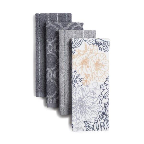 Jennifer Adams Home Tile Jacq Ivory Striped Kitchen Towel Set 4 Pack Reviews Wayfair