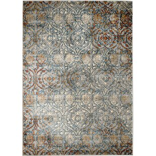 Inexpensive Amy Trellis Majestic Gray Area Rug ByBungalow Rose