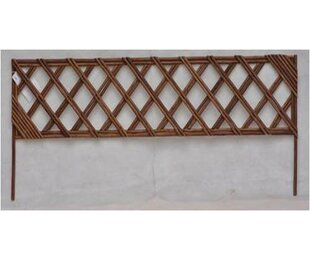 Mr. MJs Unpeeled Willow Wood Lattice Panel Trellis