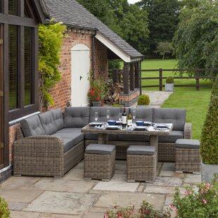 Koret 9 Seater Rattan Corner Sofa Set By Sol 72 Outdoor