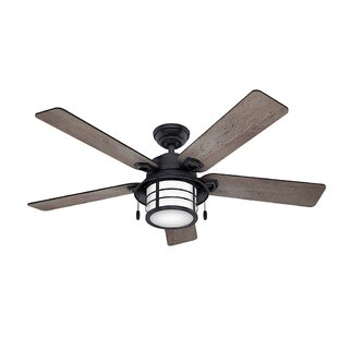 Wet rated outdoor ceiling fans wayfair 54 key biscayne 5 blade outdoor ceiling fan mozeypictures Choice Image
