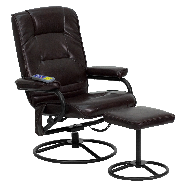 Flash Furniture Heated Reclining Massage Chair And Ottoman U0026 Reviews |  Wayfair