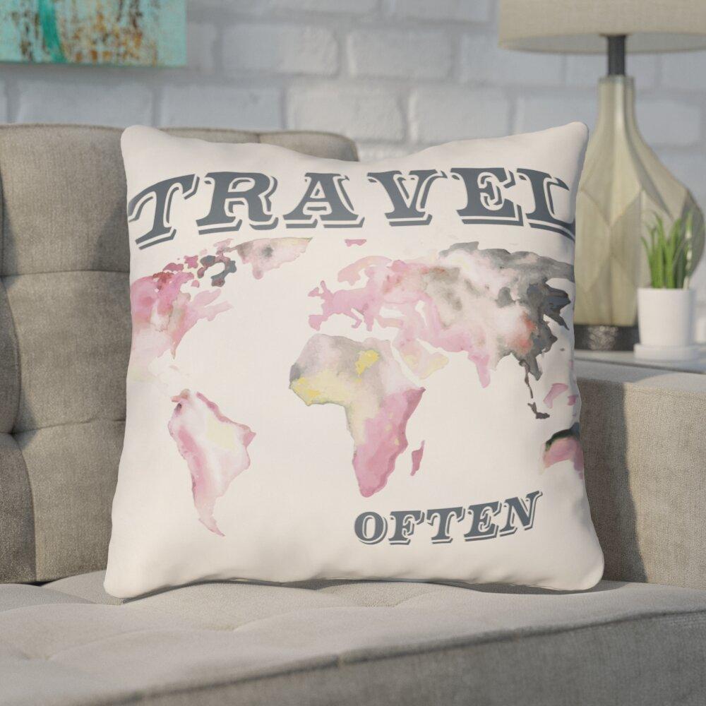Ivy Bronx Bainum Travel Indoor Outdoor Use Throw Pillow Reviews