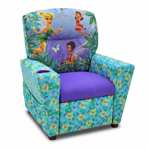 Disneyu0027s Fairies Kids Recliner With Cup Holder