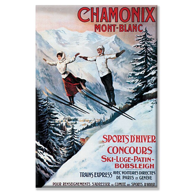 Chamonix Mont Blanc by Tamagno Framed Vintage Advertisement on Wrapped Canvas