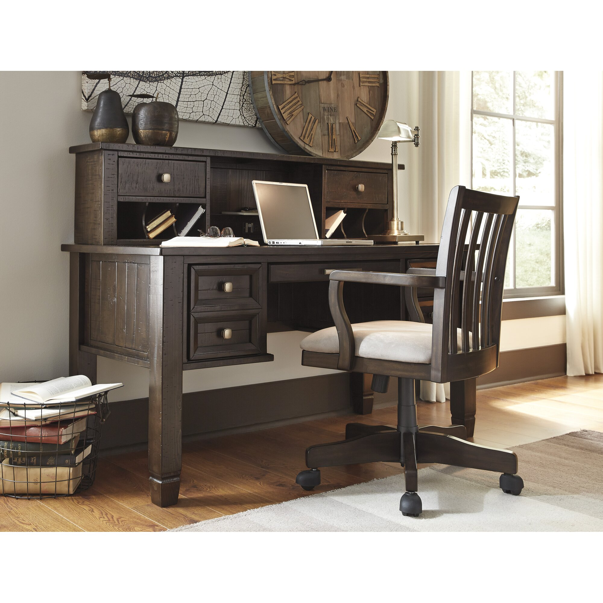 Laurel Foundry Modern Farmhouse Giroflee Writing Desk and Huth