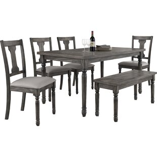 Dunwoody 6 Piece Dining Set Three Posts