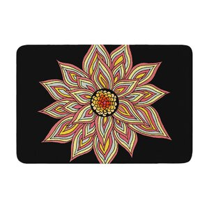 Pom Graphic Design Incandescent Flower Memory Foam Bath Rug