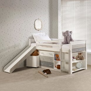 Fugate Two Tone Twin Low Loft Bed with 3 Drawers