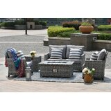 Devine 5 Pieces Rattan Sofa Seating Group with Cushions
