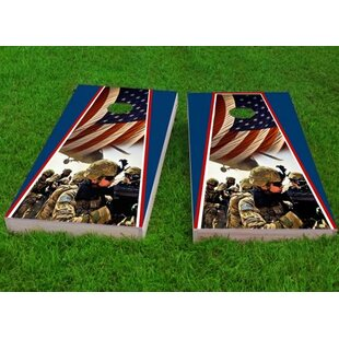 Custom Cornhole Boards Armed Forces Cornhole Game (Set of 2)