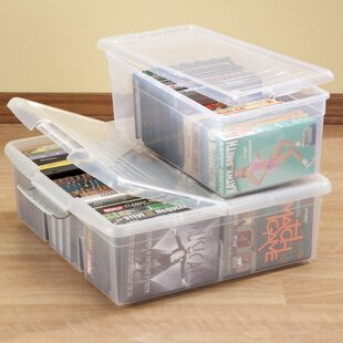2 Piece Stacking Storage Box Multimedia Set