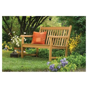 Harpersfield Rustic Natural Wood Garden Bench