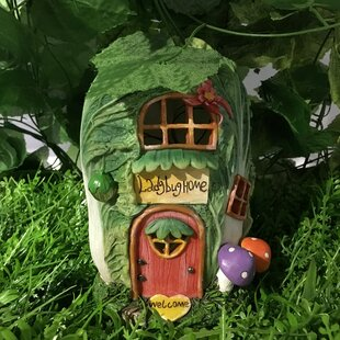 Fairy Garden Cabbage House with Lights Statue by Hi-Line Gift Ltd.