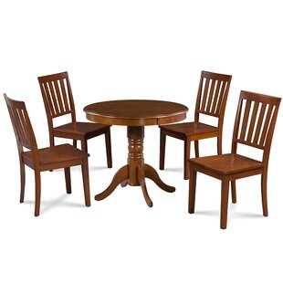 Dahlquist 5 Piece Solid Wood Dining Set by August Grove Modern