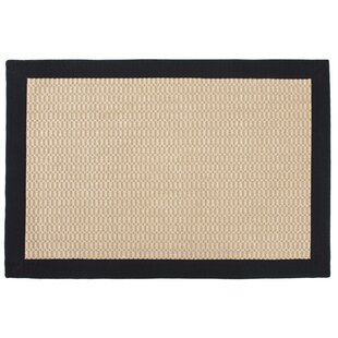 Sisal Jacquard Chevron Blended Toupe Indoor/Outdoor Area Rug By Leaf & Fiber
