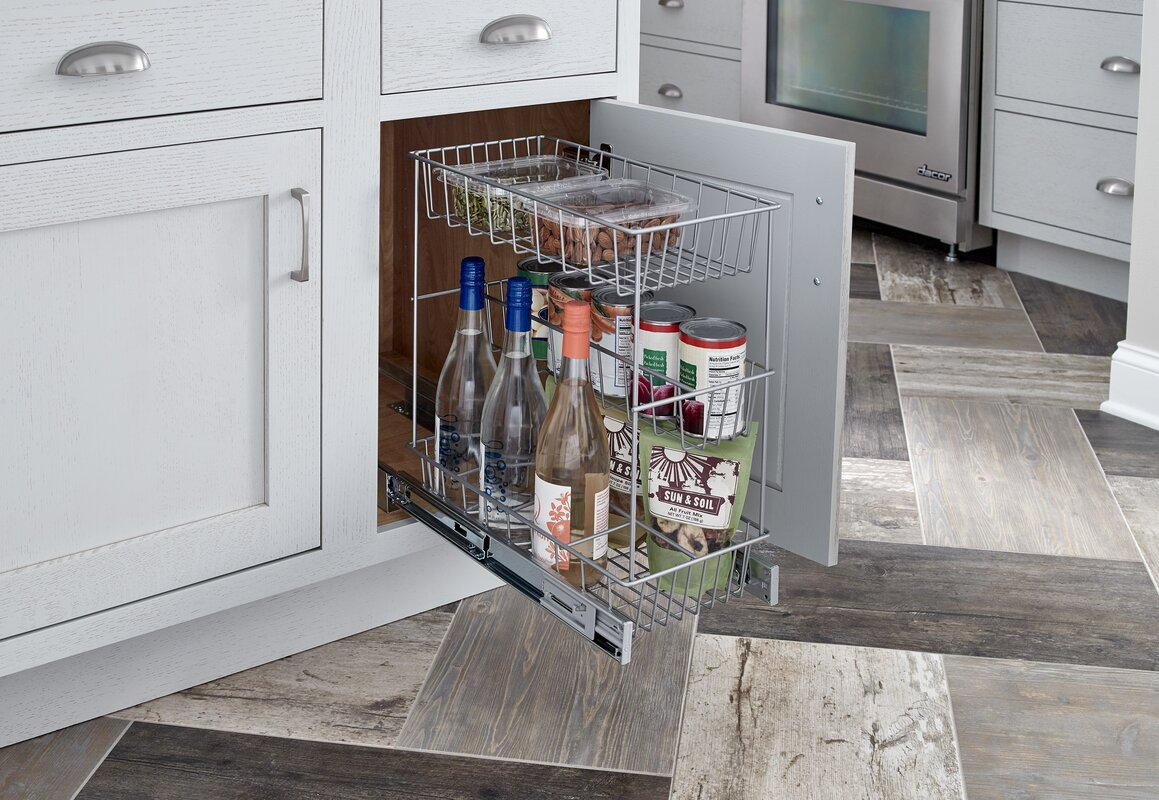 Nice 3 Tier Compact Kitchen Cabinet Pull Out Basket