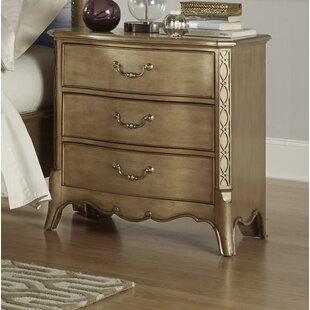 Brodea 3 Drawer Nightstand by Astoria Grand