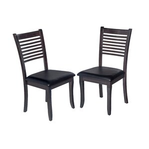 Dinsmore Cottage Solid Wood Dining Chair (Set of 2) by Latitude Run