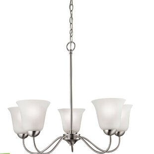 Ashtyn 5-Light Shaded Chandelier by Charlton Home
