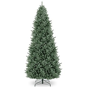 Slim 12' Green Fir Artificial Christmas Tree with Stand