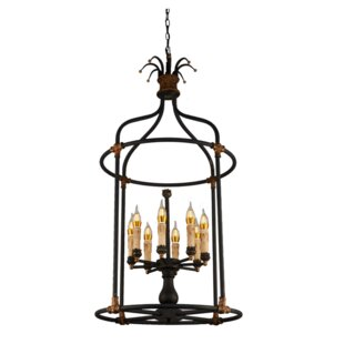 Sweet 8-Light Lantern Pendant by Bay Isle..