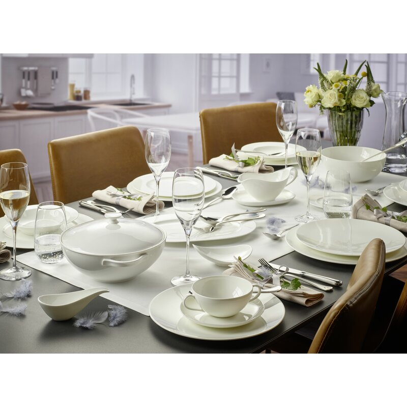 Villeroy Boch Anmut 2 20 Litre Covered Vegetable Bowl White Tableware Dishware Serving Pieces