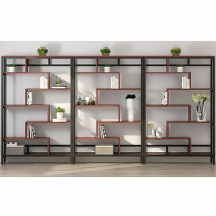 Tannen Geometric Bookcase by Wrought Studio