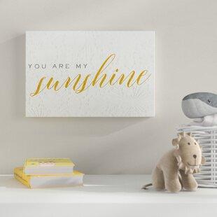 'You Are My Sunshine' Canvas Art By HoneyBee Nursery