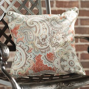 Lebaron Coral Paisley Indoor/Outdoor Square Pillows (Set of 2)