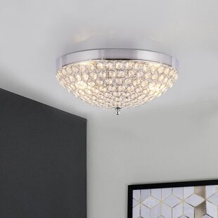 Ada Compliant Crystal Shade Flush Mount Lighting You Ll Love In 2021 Wayfair