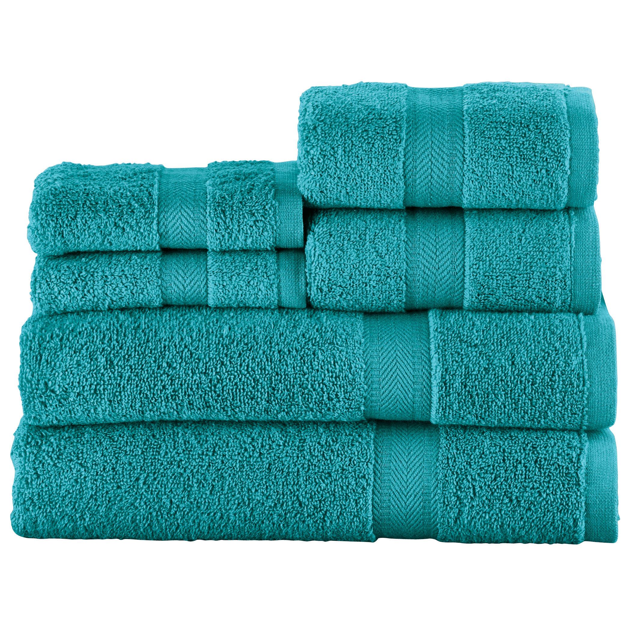 Latitude Run Brooke Louise Zero Twist 6 Piece 100 Cotton Bath Towel Set Reviews Wayfair